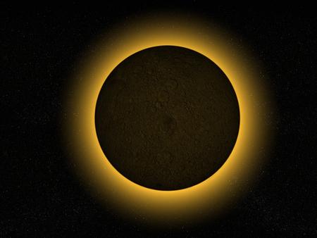 3D rendering of a full moon eclipse Stock fotó