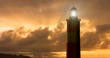 3D rendering of Lighthouse at Sunset