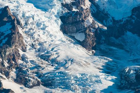 Nisqually Glacier at Mount Rainier, Mount Rainier Park, Washington State, USA Stock Photo