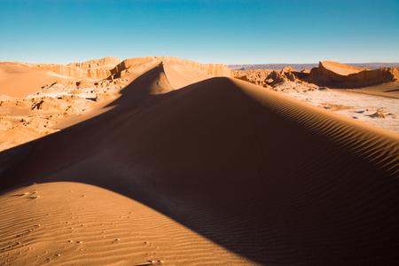Sand dune at Moon Valley, San Pedro de Atacama, Atacama desert, Antofagasta Region, Chile, South America Stock Photo
