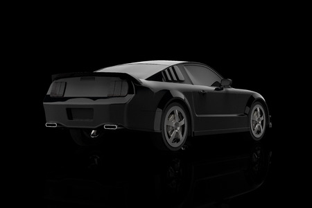 3D rendering of a sport car on a black background Stock Photo
