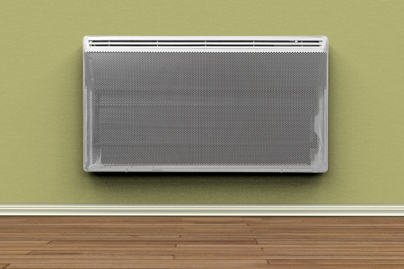 3D rendering of an electric heater in a room