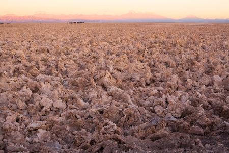 Salt crust in the Salar de Atacama (Atacama Salt Lake), Soncor, Atacama desert, Antofagasta Region, Chile Stock Photo