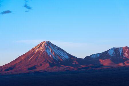 Licancabur volcano at sunset, San Pedro de Atacama, Atacama desert, Chile, South America Фото со стока