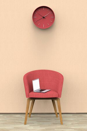 3D rendering of a waiting room 스톡 콘텐츠