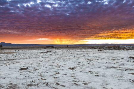 The Atacama Salt Lake (Salar de Atacama) in the Atacama Desert, Chile