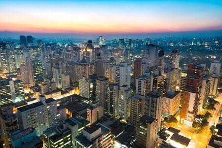 Panoramic view of Sao Paulo, Brazil, South America Фото со стока