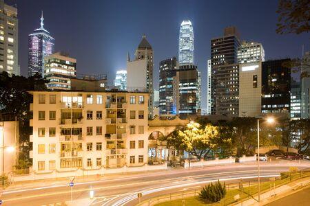 Upper Albert Road and skyline of Chung Wan (Central district), Hong Kong Island, Hong Kong, China, Asia Фото со стока