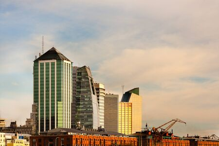 Skyline from Puerto Madero, Capital Federal, Buenos Aires, Argentina, South America