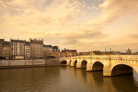 Pont Neuf bridge over the Seine River at Ile de la Cite, Paris, France