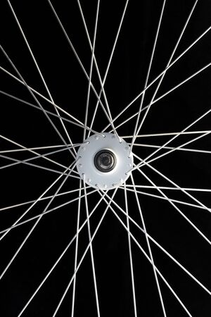 Close up to the wheel of a bicycle