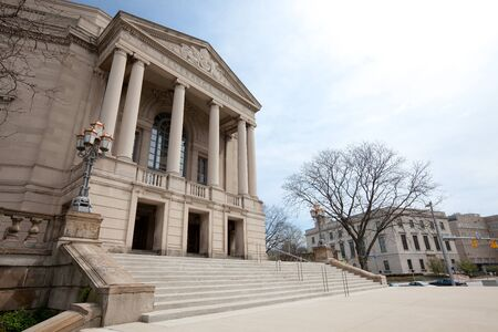 Cleveland, Ohio, United States - April 30, 2011: Severance Hall home of The Cleveland Orchestra.