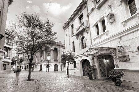 Santiago; Region Metropolitana, Chile - The traditional European style architecture of the Paris - Londres Neighborhood at downtown. Zdjęcie Seryjne
