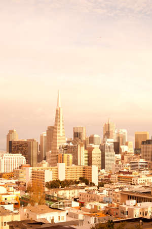 Financial District and North Beach neighborhood in San Francisco, California, United States Stock fotó