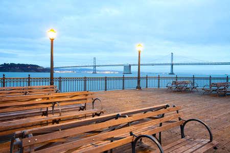 San Francisco-Oakland Bay Bridge from Pier 7, San Francisco, California, United States