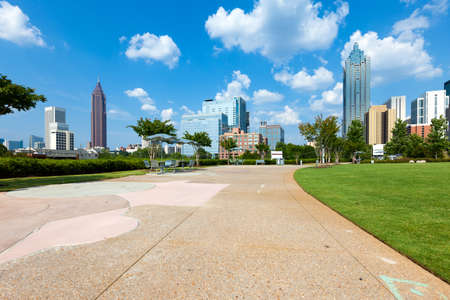 Buildings at downtown Atlanta from public park, Georgia, United States