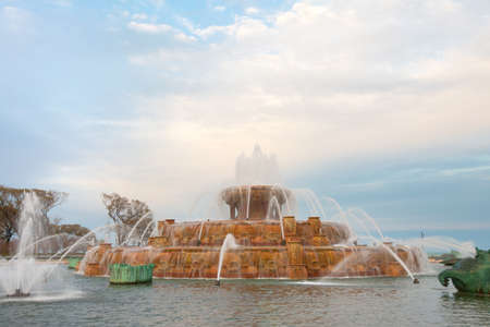 Chicago, Illinois, United States - Buckingham Fountain at Grant Park.