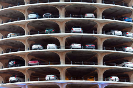 Cars parked in a buidling in Chicago, Illinois, USA
