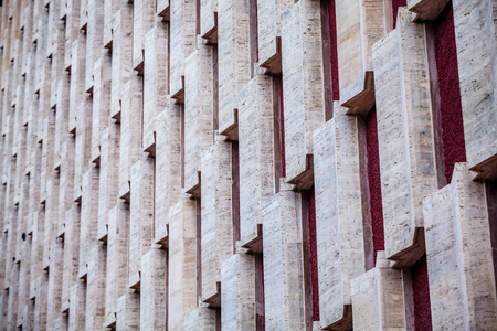 irregularity: Color picture of wall building with square shapes