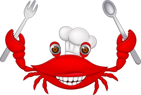 Crab chef cartoon Stock Vector - 15379409