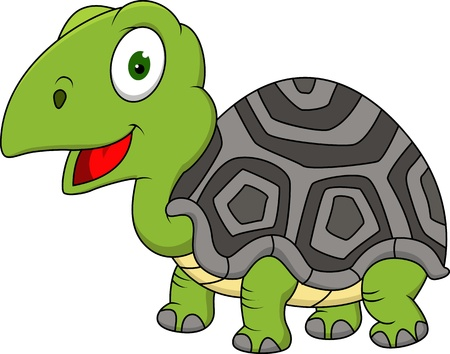 Funny turtle cartoon Stock Vector - 15924780