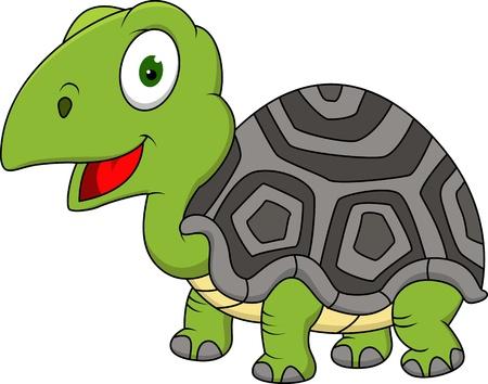 Funny turtle cartoon Stock Vector - 15924780