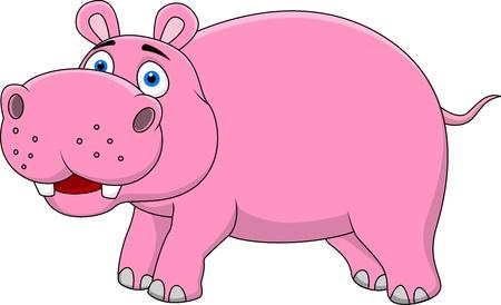 hipopotamo caricatura: Hippo cartoon Vectores