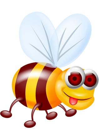 comic wasp: Bee cartoon
