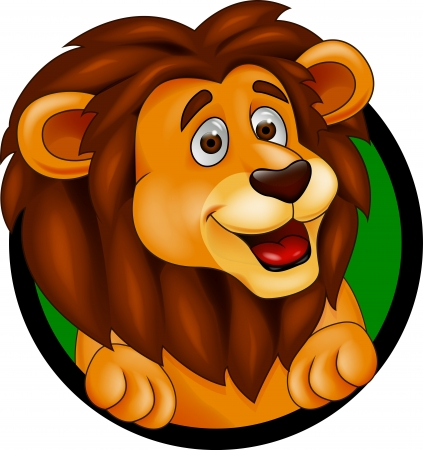 male animal: Lion cartoon