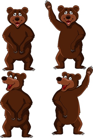 brown bear: Bear cartoon Illustration