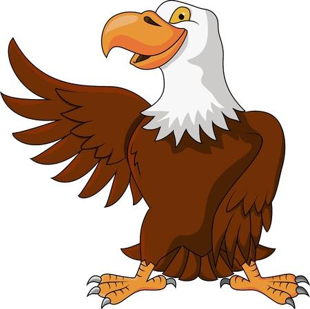 halcones: Águila que agita dibujos animados Vectores