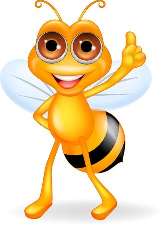 abeja reina: S� el pulgar para arriba caricatura
