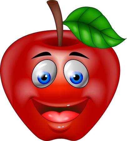 Red apple cartoon Stock Vector - 15925262