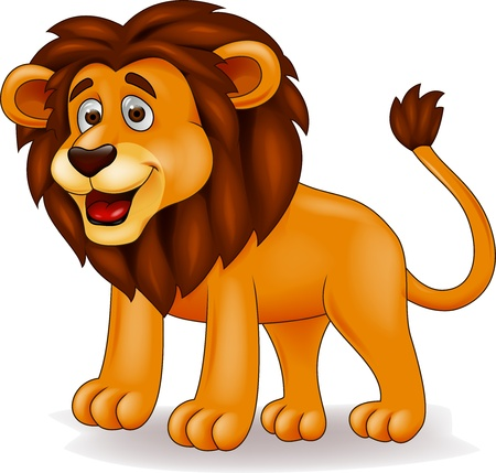 kitten cartoon: Funny lion cartoon Illustration