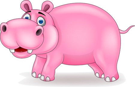 Hippo cartoon Stock Vector - 15925253