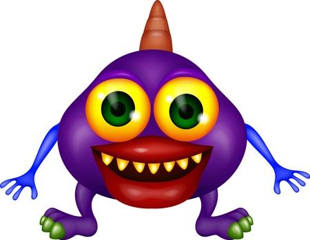 Purple monster Stock Vector - 16496605