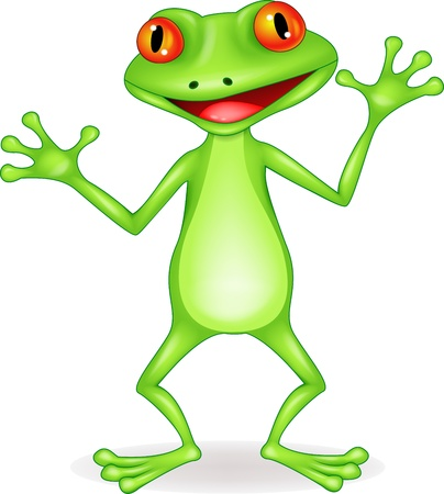 crazy: Funny frog cartoon