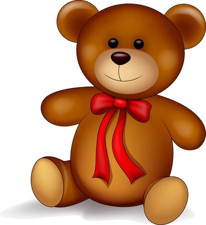 oso caricatura: De dibujos animados oso de peluche Vectores