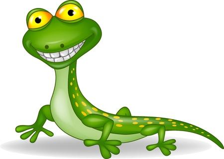 salamandra: Lizard dibujos animados Vectores