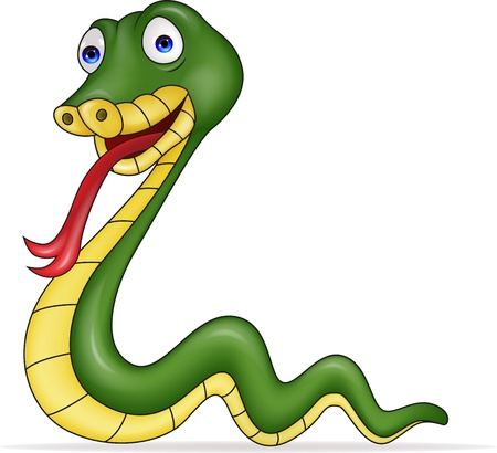 illustration of snake cartoon