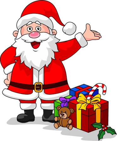 Santa waving Stock Vector - 16515877