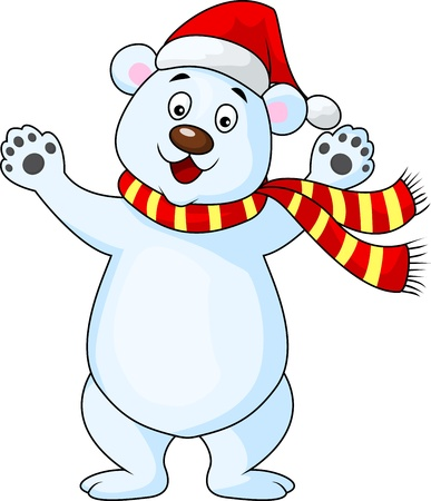 Bear Christmas cartoon Illustration
