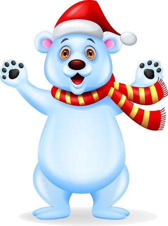 Bear Christmas cartoon Vector