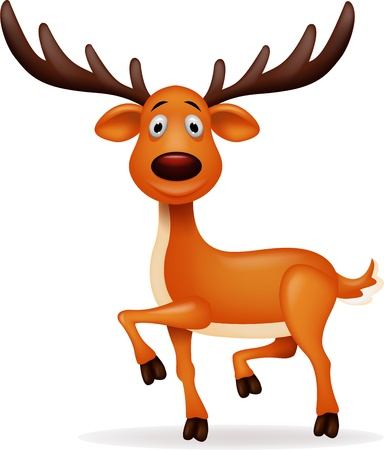 cartoon reindeer: Deer cartoon Illustration