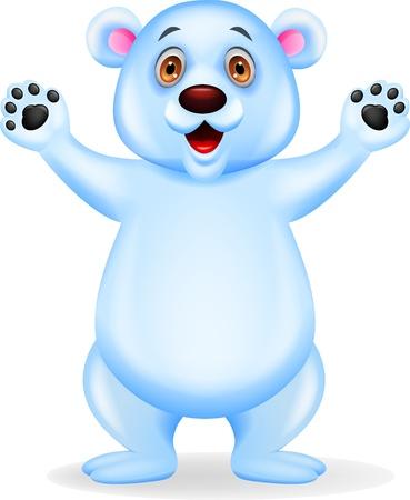 Polar bear waving Stock Vector - 16515886