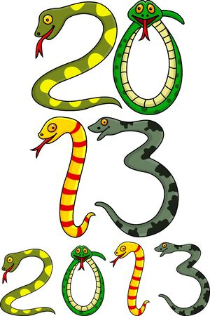 Year of snake Stock Vector - 16694767