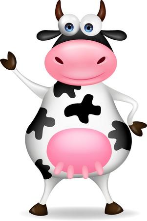 cow farm: Mucca Fumetto Vettoriali