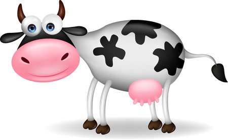 bovine: Cow cartoon Illustration