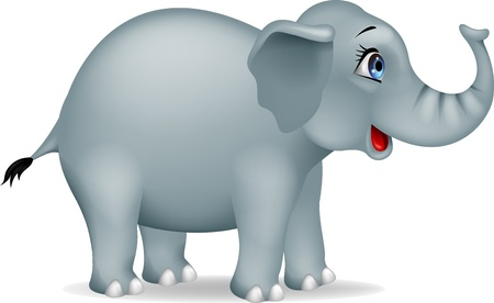 elephant trunk: Elephant cartoon