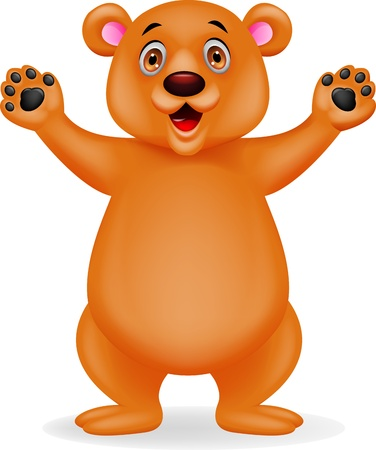 Bear cartoon waving Stock Vector - 17178544